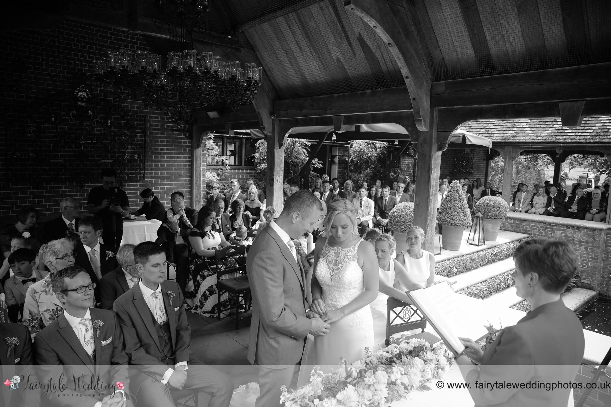 Wedding Cerenony outside The Dairy Waddesden Manor
