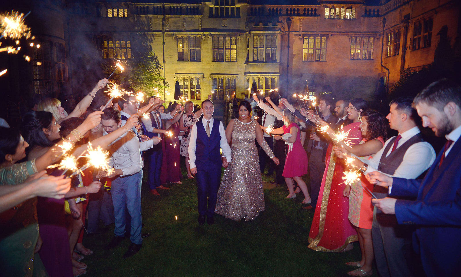 Wedding Sparklers Rushdon Hall