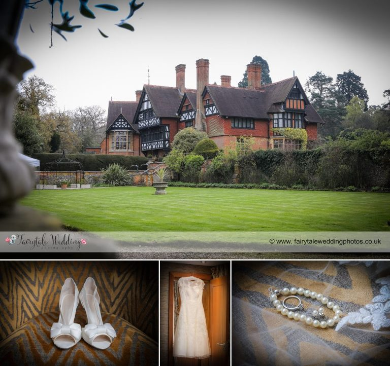 Country house wedding bridal details