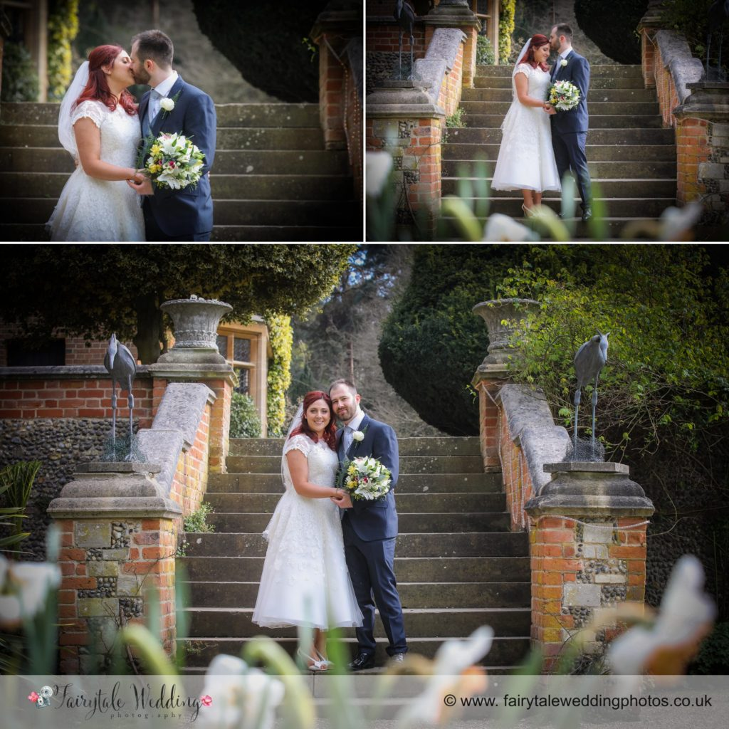 Country house bride and groom