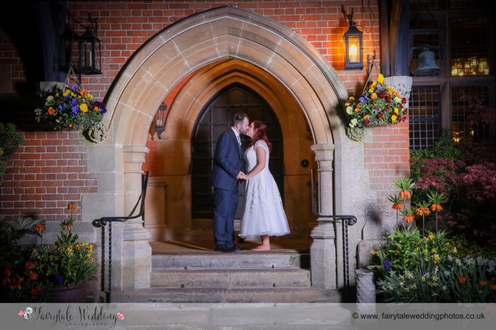 Night photograph bride and groom grims dyke
