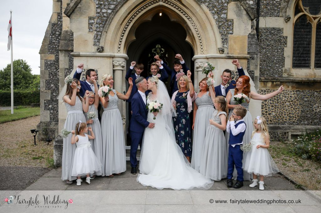 Bridal Party St Peters Church Rickmansworth