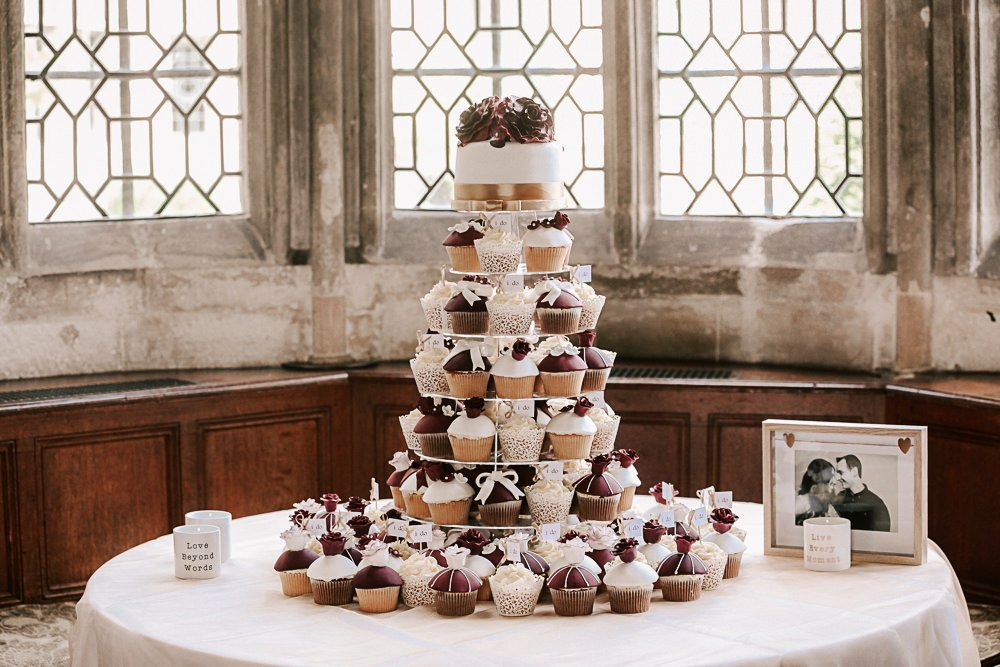 Wedding Cup Cakes Rushden Hall Bedfordshie